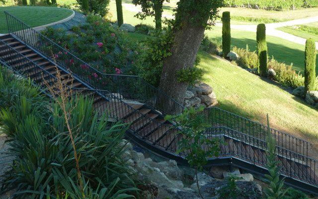Escalier extérieur métal et bois